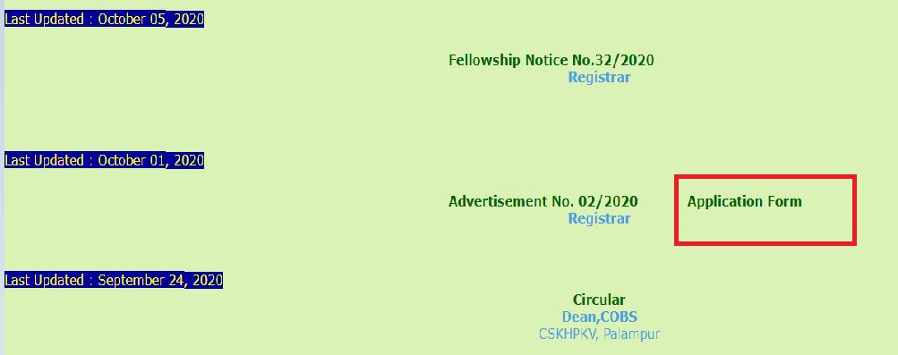 CSKHPKV Recruitment