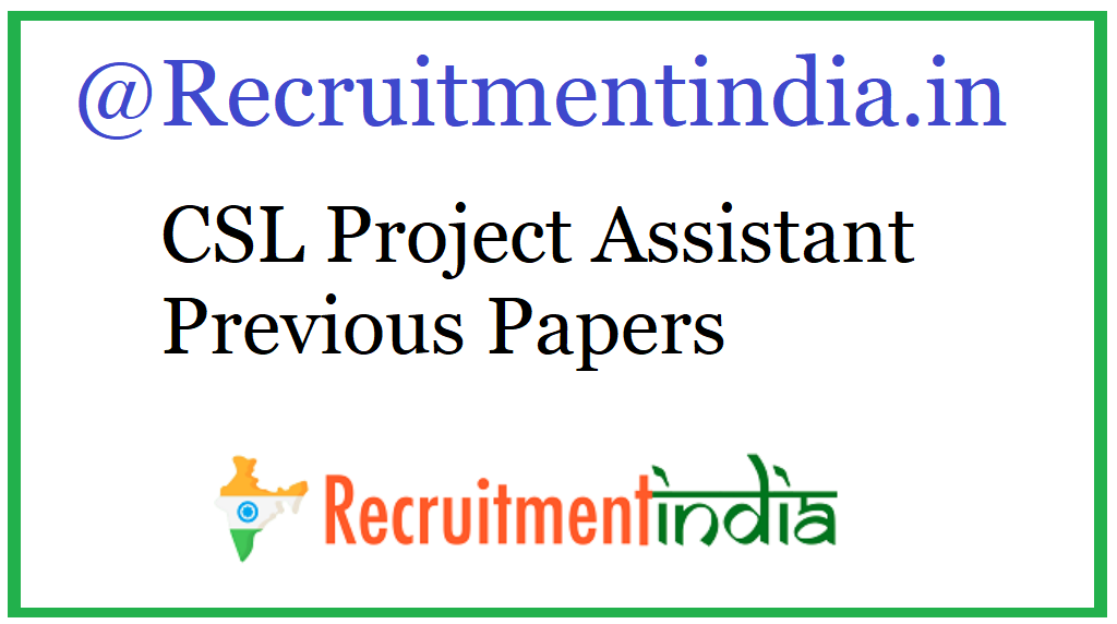 CSL Project Assistant Previous Papers