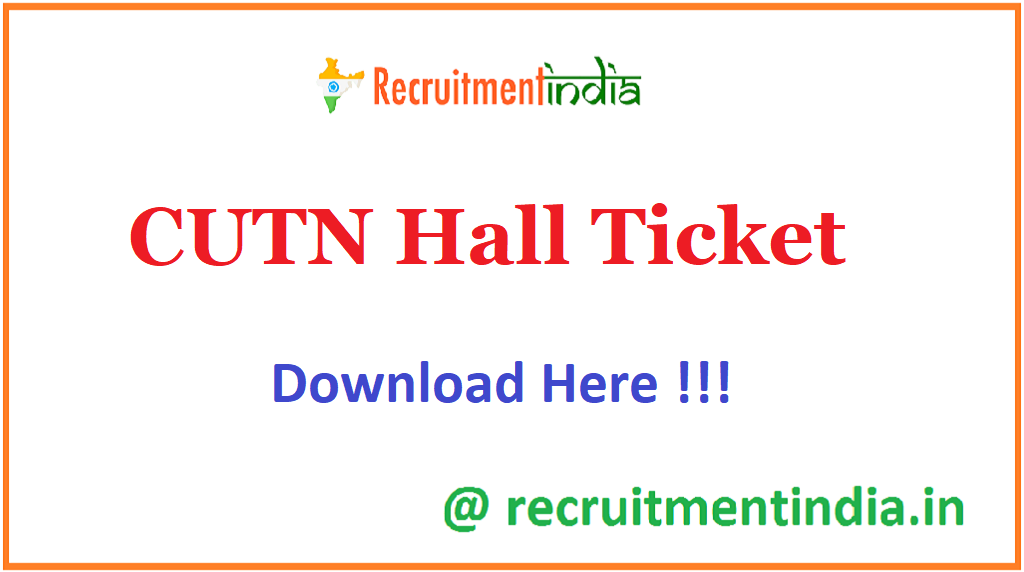 CUTN Hall Ticket