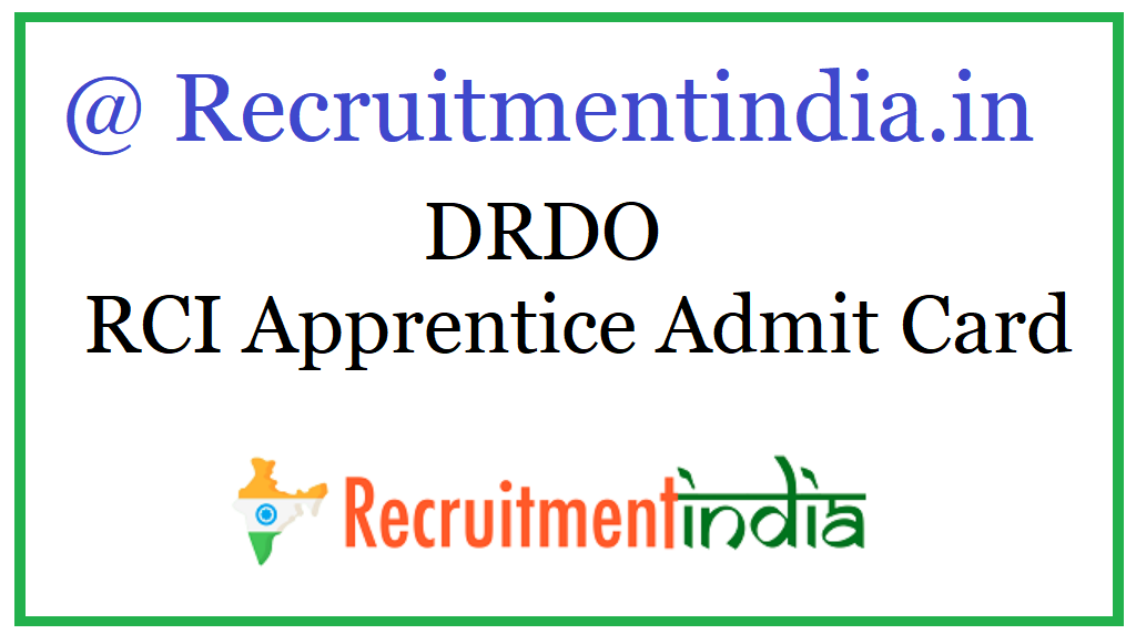 DRDO RCI Apprentice Admit Card
