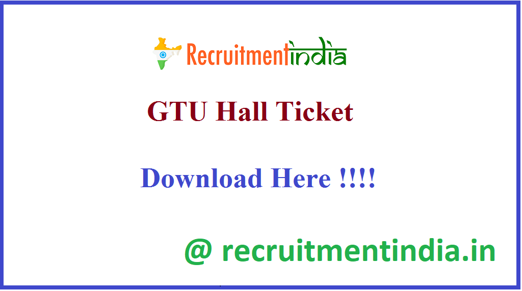 GTU Hall Ticket
