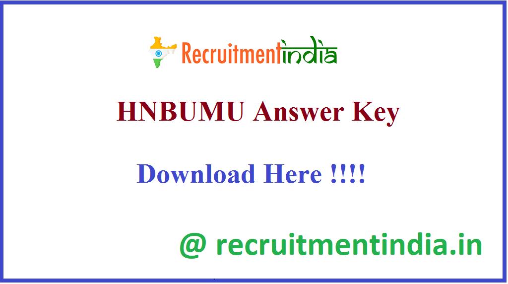 HNBUMU Answer Key