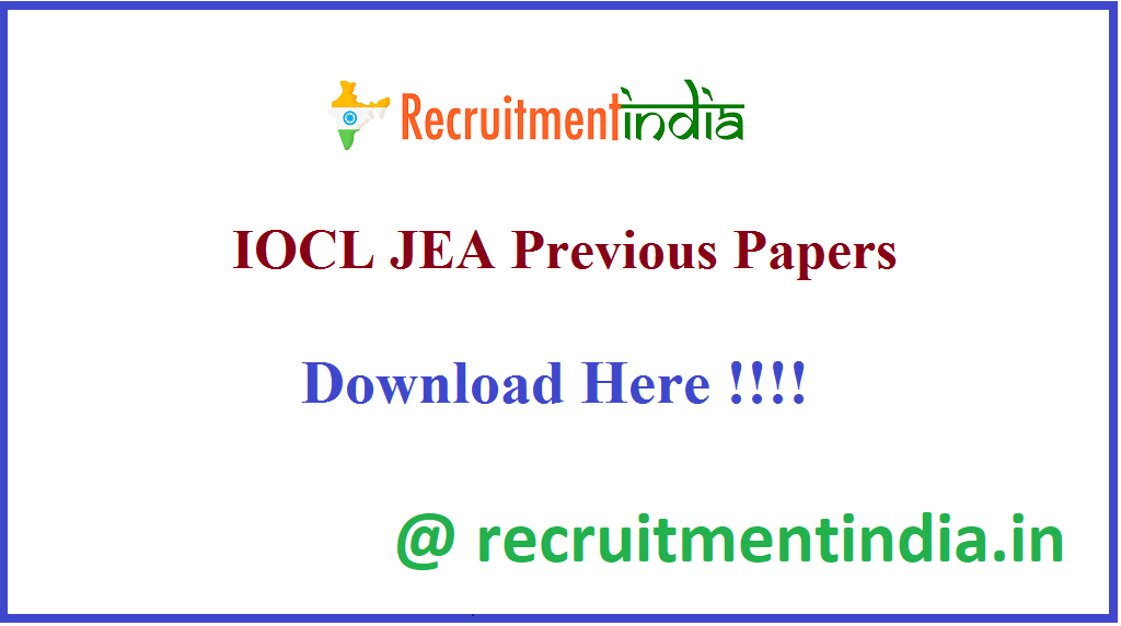 IOCL JEA Previous Papers