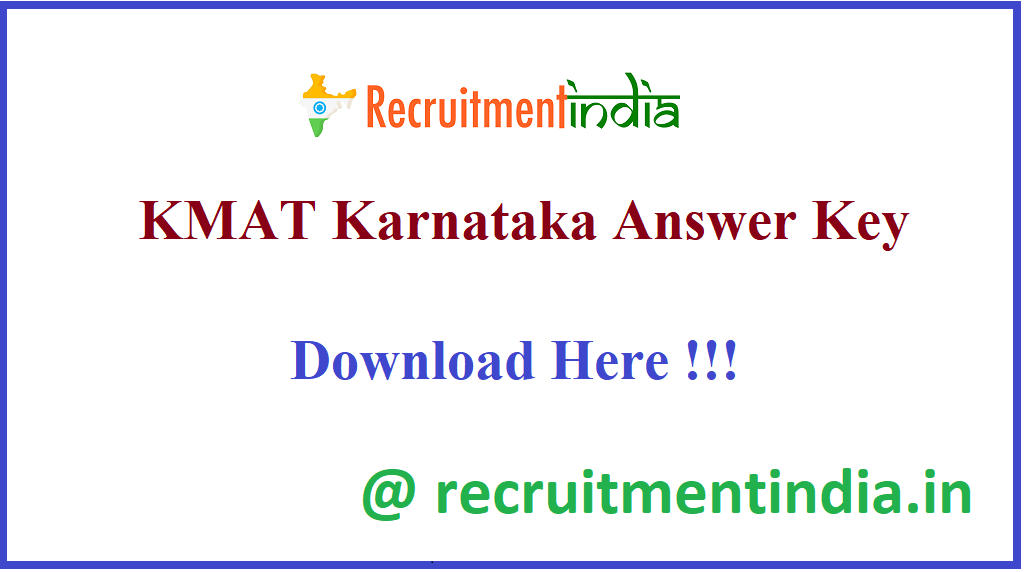 KMAT Karnataka Answer Key