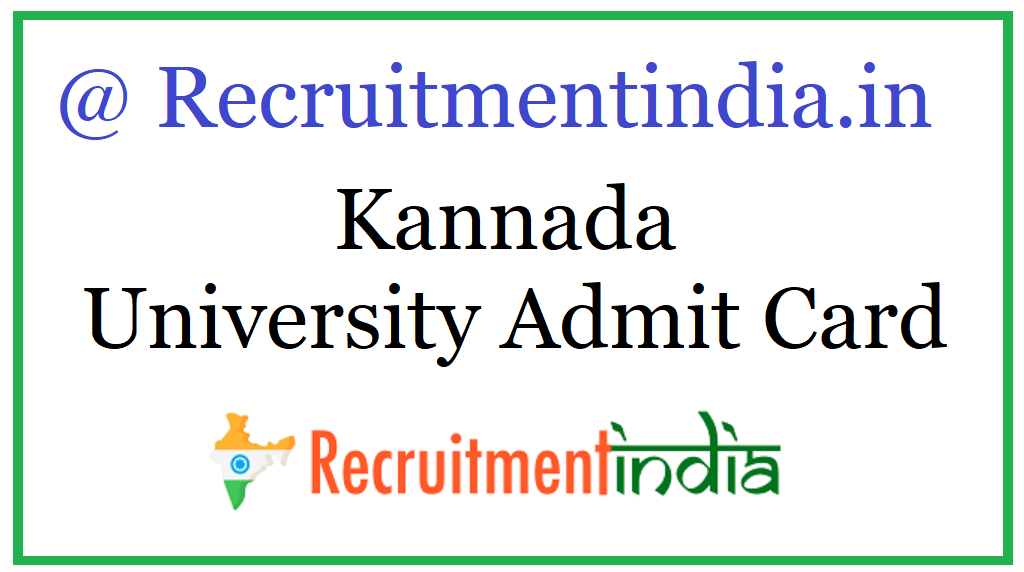 Kannada University Admit Card