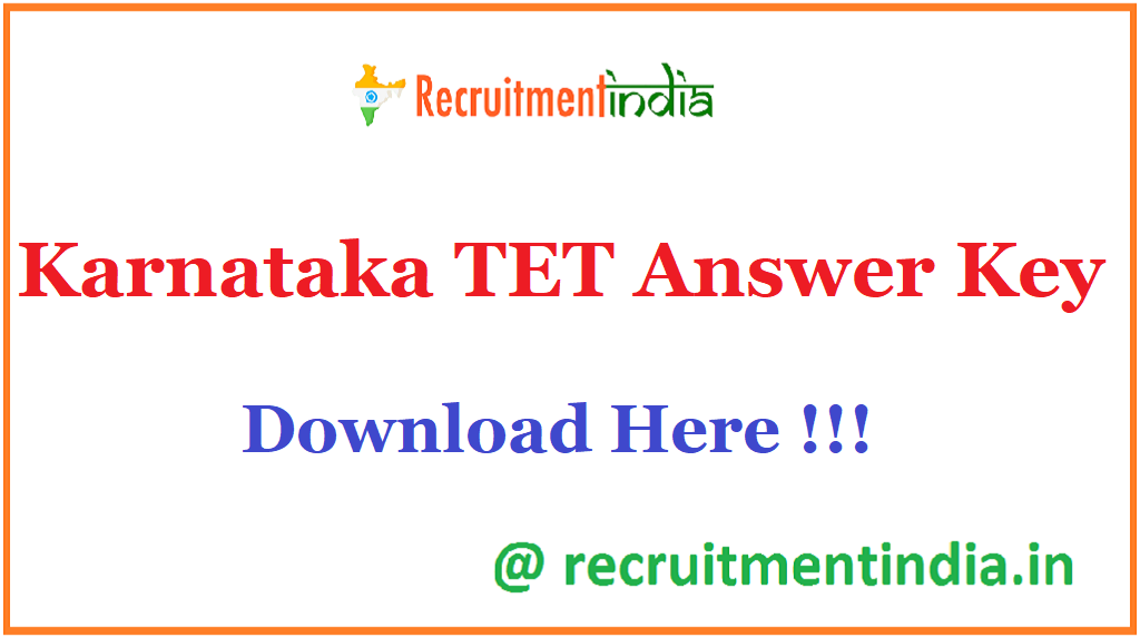 Karnataka TET Answer Key