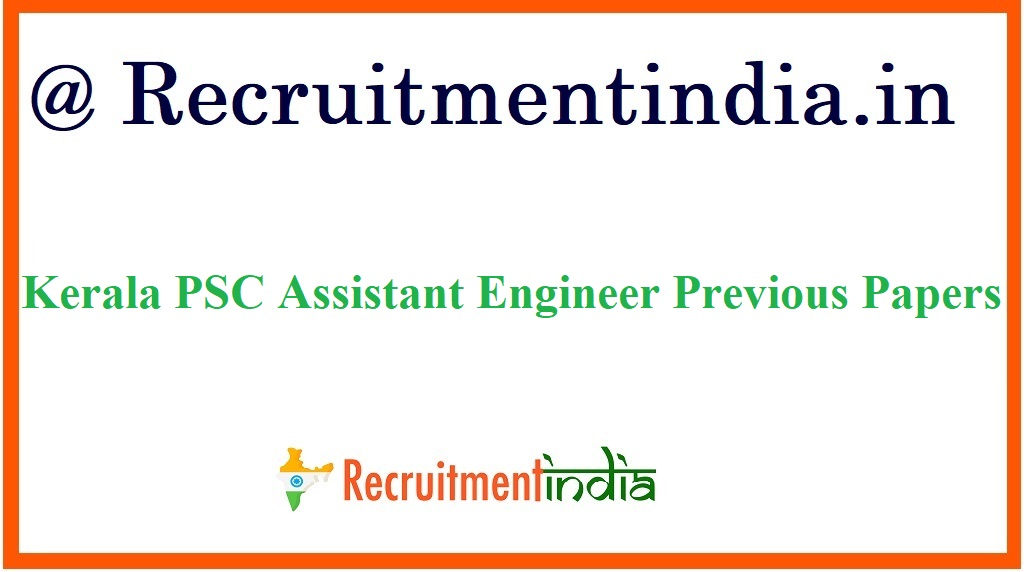Kerala PSC Assistant Engineer Previous Papers