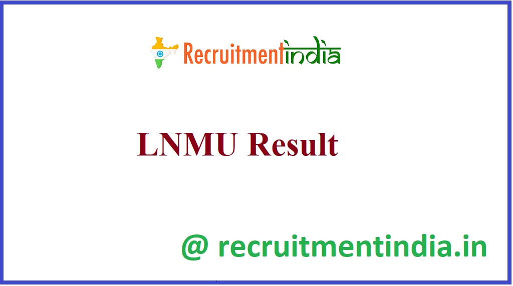 LNMU Result
