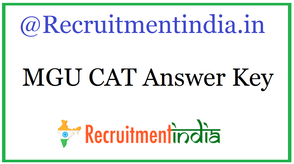 MGU CAT Answer Key