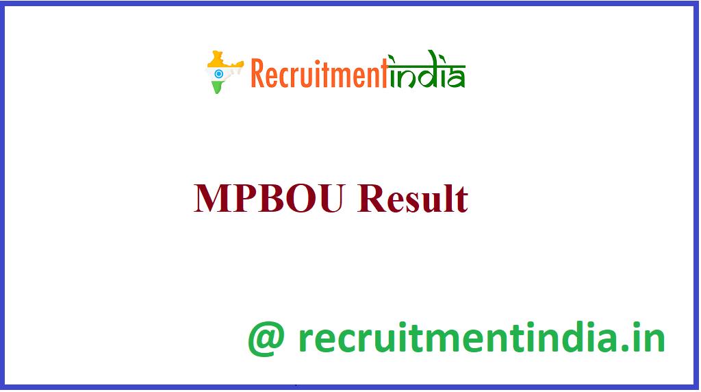 MPBOU Result