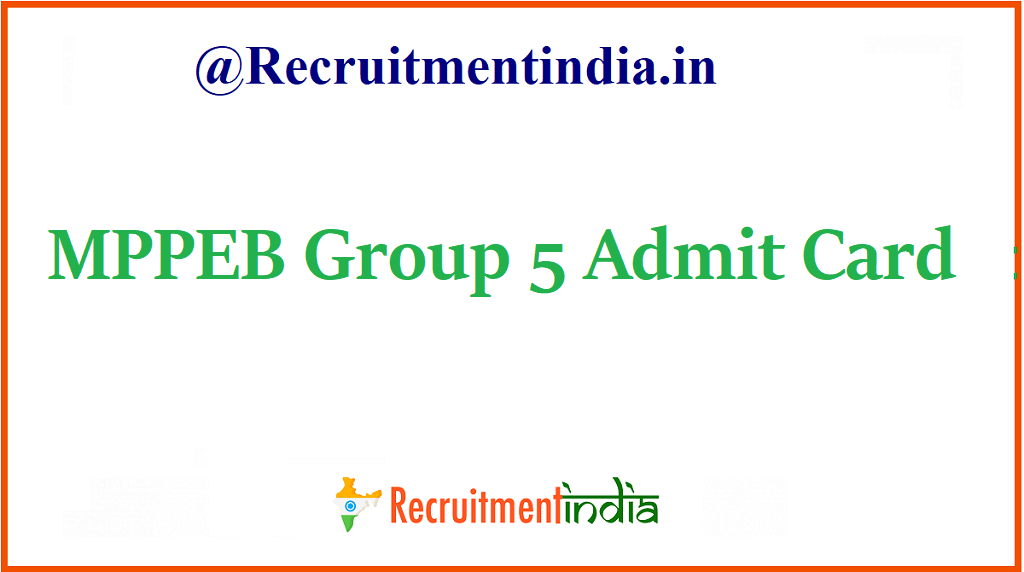 MPPEB Group 5 Admit Card