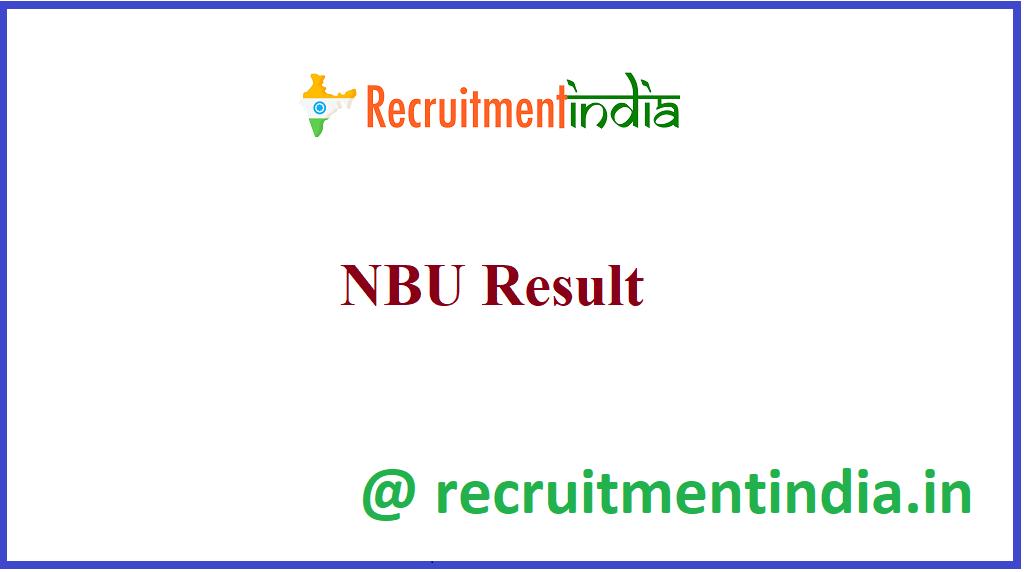 NBU Result