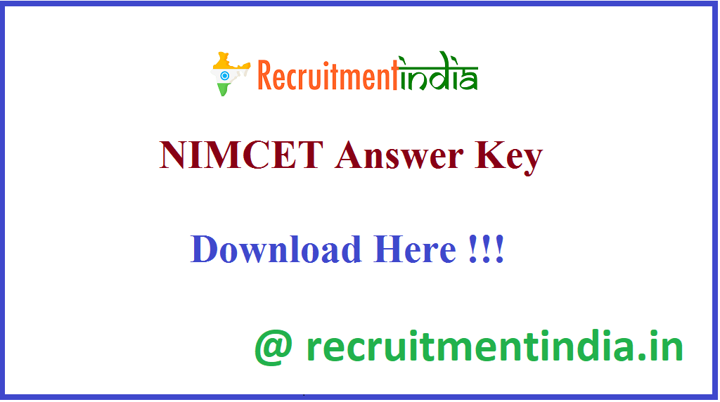 NIMCET Answer Key