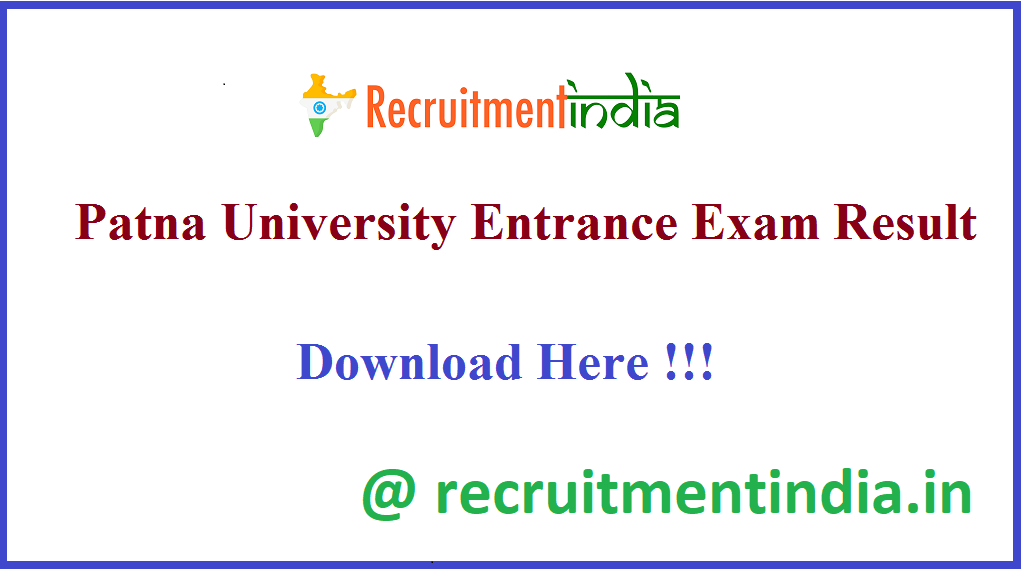 Patna University Entrance Exam Result