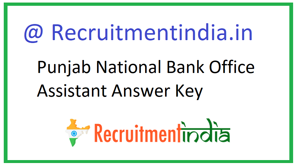 Punjab National Bank Office Assistant Answer Key