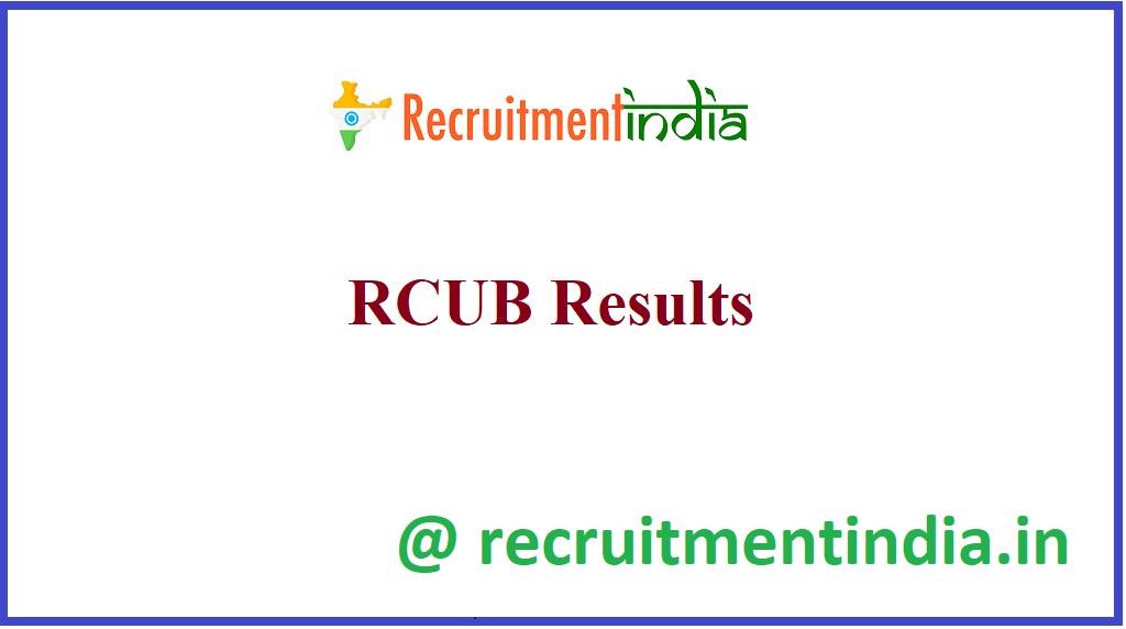 RCUB Results