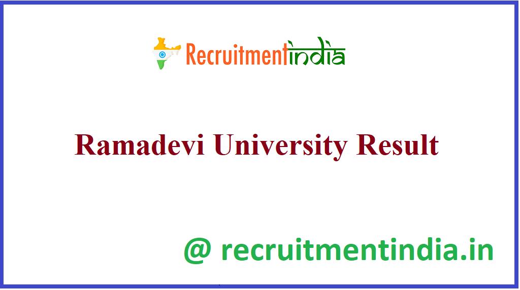 Ramadevi University Result
