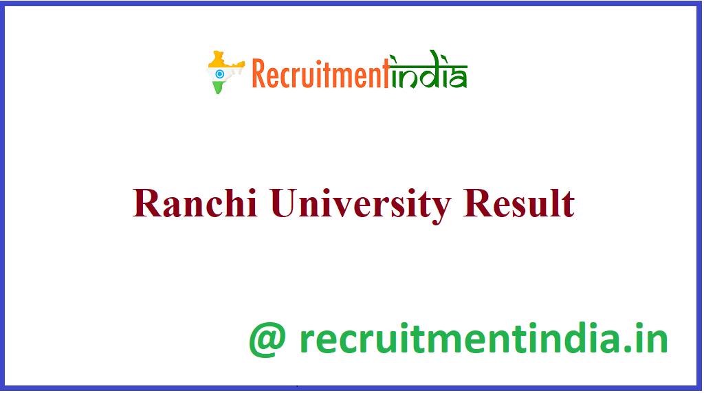 Ranchi University Result