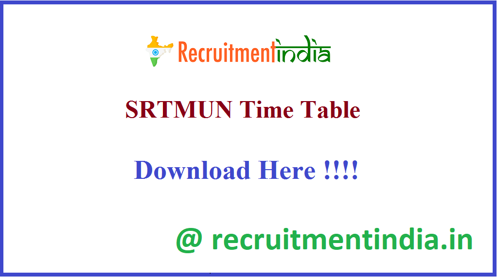 SRTMUN Time Table