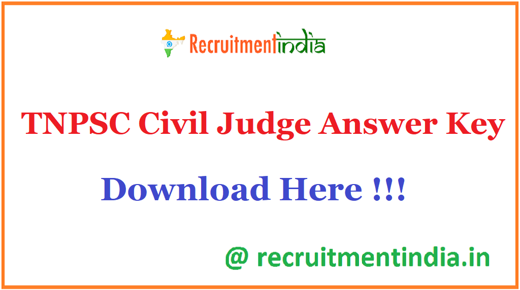 TNPSC Civil Judge Answer Key