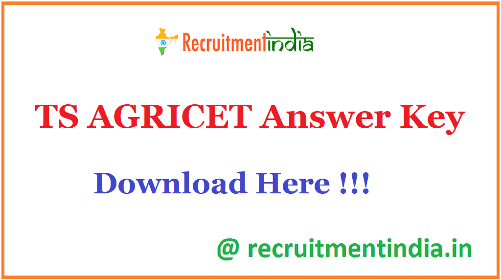 TS AGRICET Answer Key