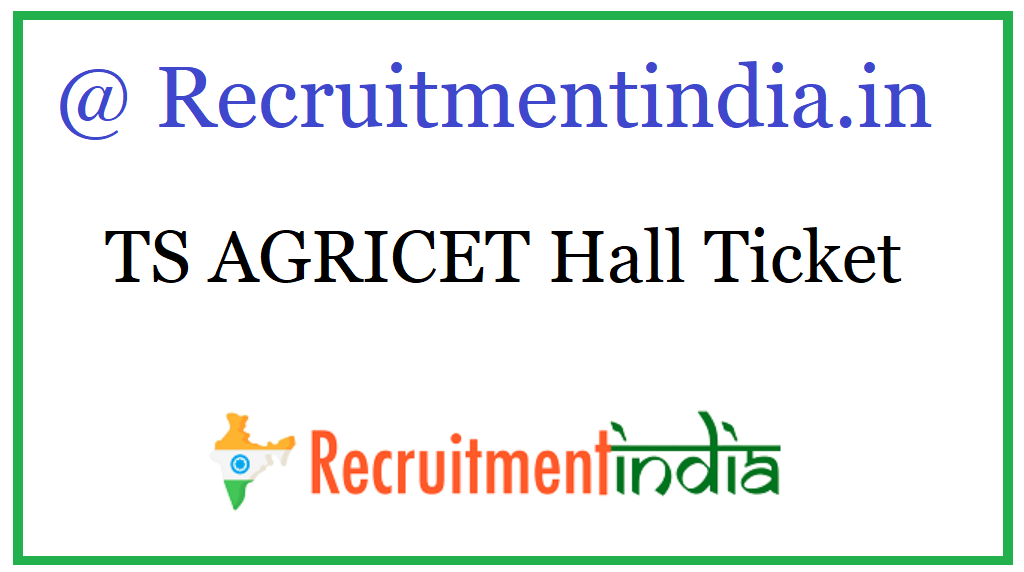 TS AGRICET Hall Ticket