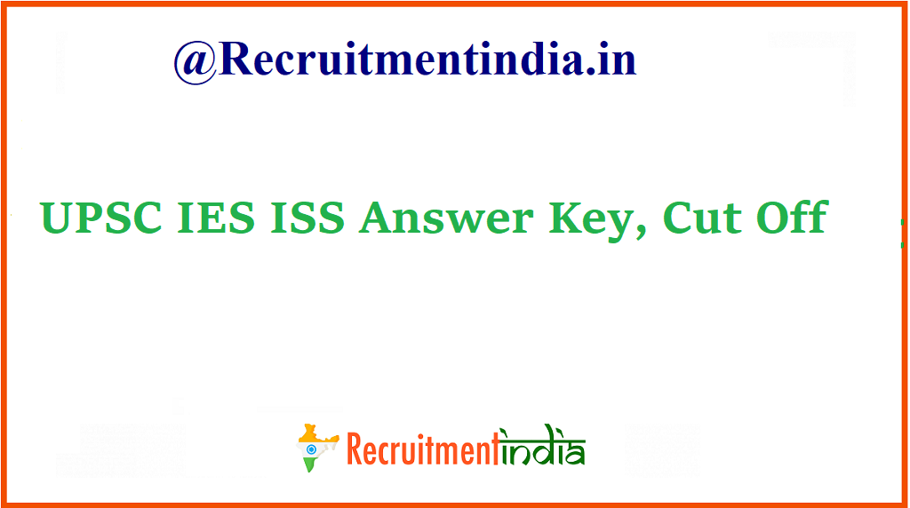 UPSC IES ISS Answer Key
