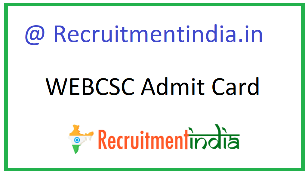 WEBCSC Admit Card