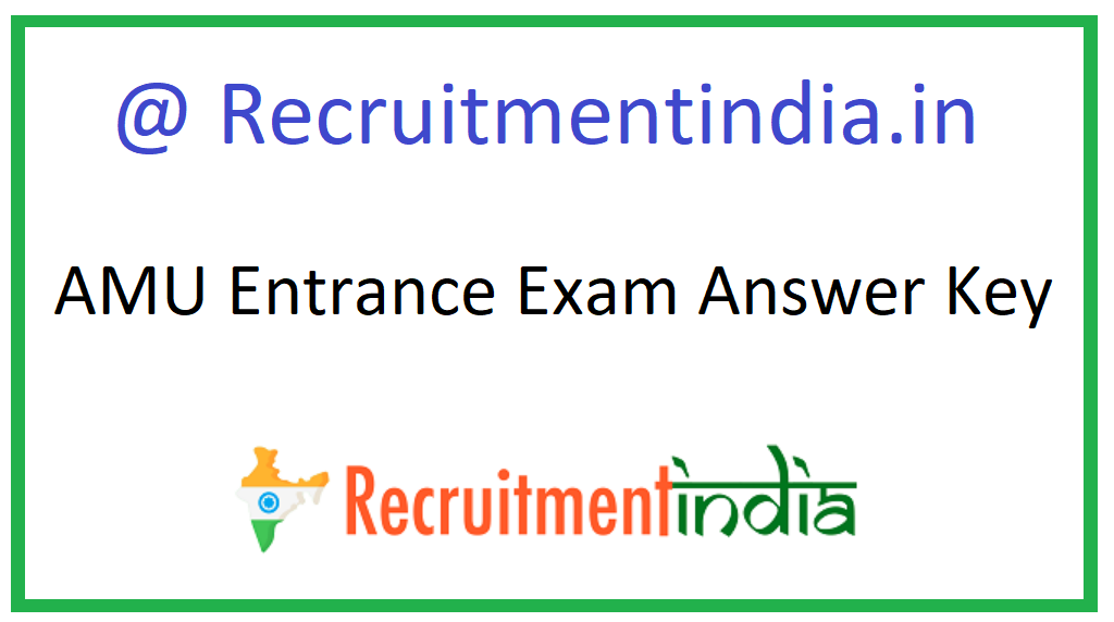 AMU Entrance Exam Answer Key