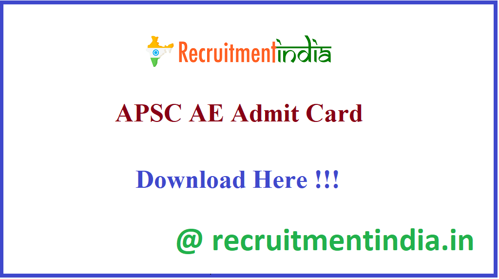APSC AE Admit Card