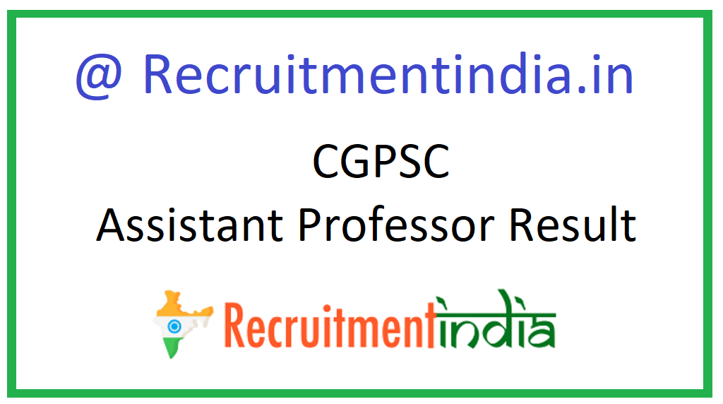 CGPSC Assistant Professor Result