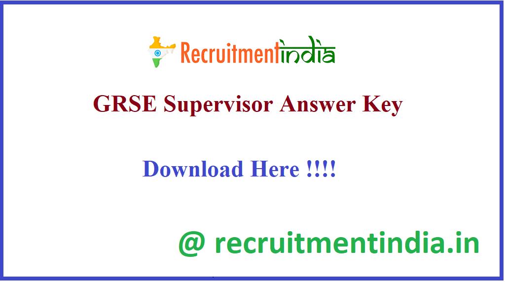 GRSE Supervisor Answer Key