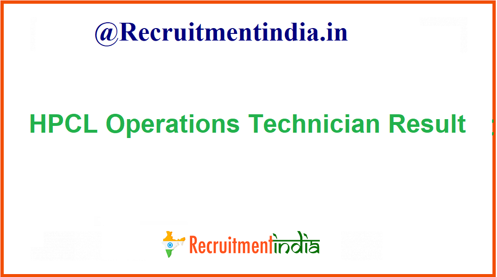 HPCL Operations Technician Result