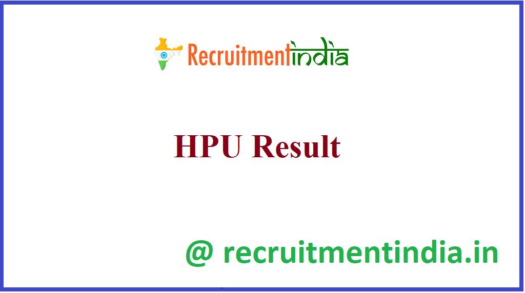 HPU Result