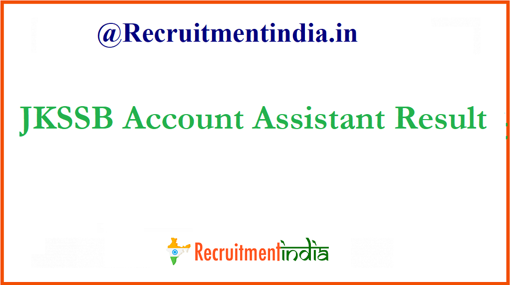 JKSSB Account Assistant Result