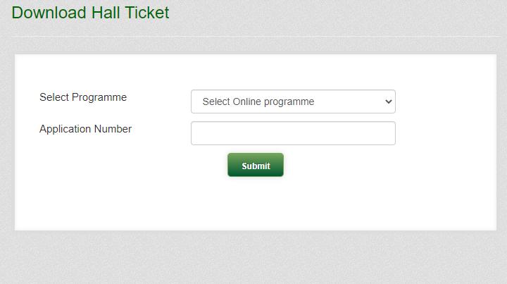 KAU Entrance ExamHall Ticket