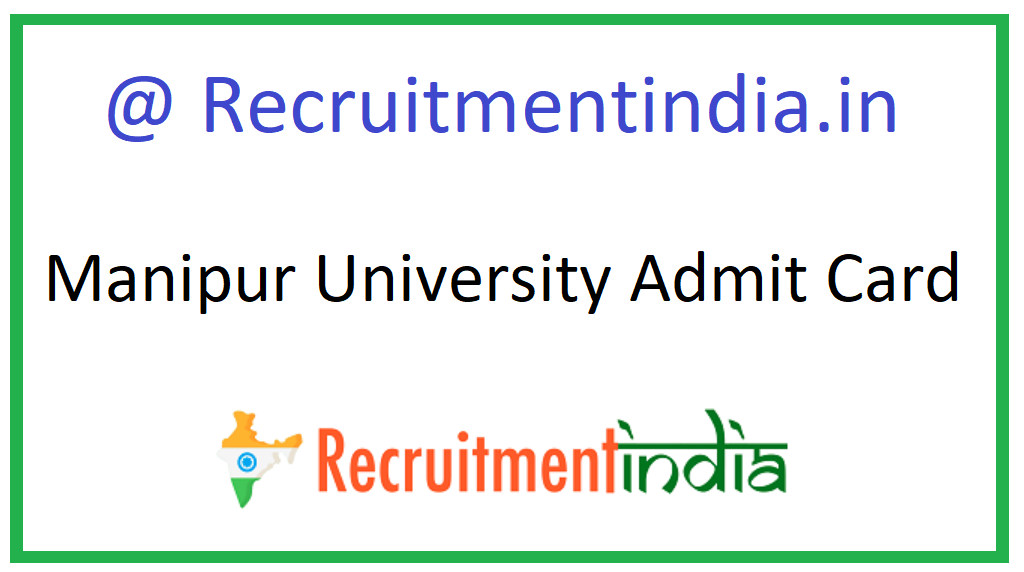 Manipur University Admit Card