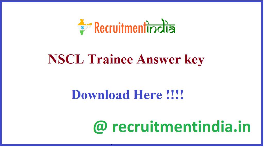 NSCL Trainee Answer Key
