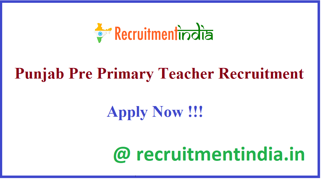 Punjab Pre Primary Teacher Recruitment