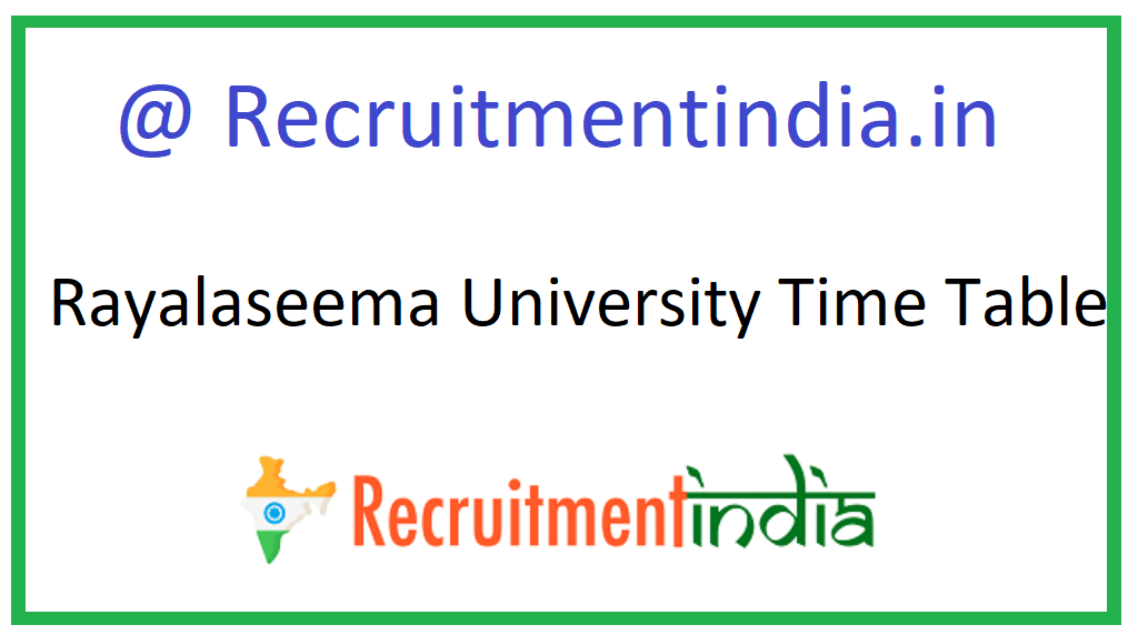 Rayalaseema University Time Table