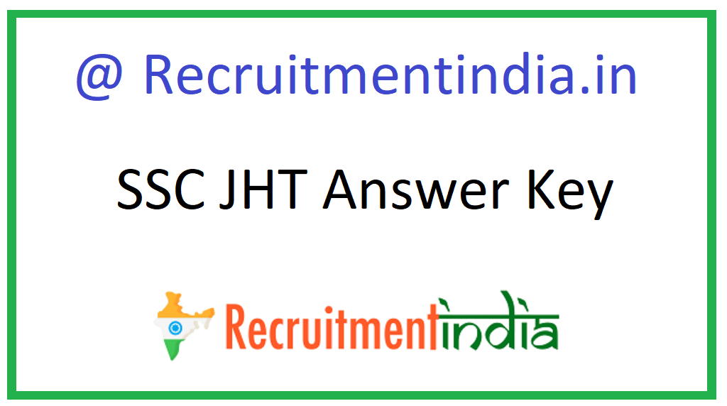 SSC JHT Answer Key