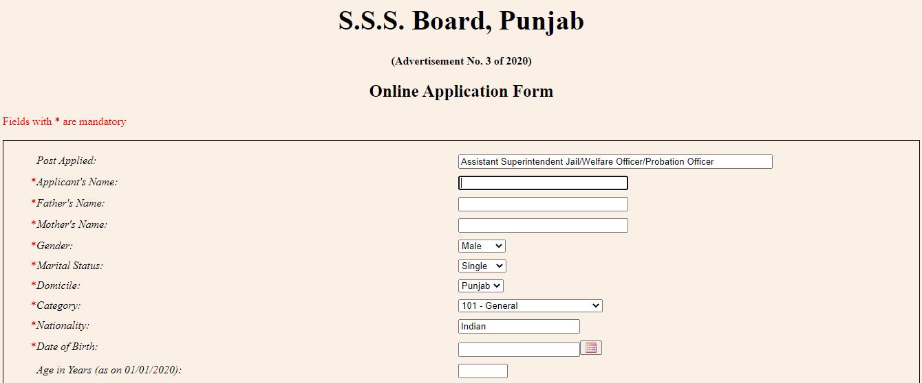 SSSB Punjab Assistant Superintendent Recruitment