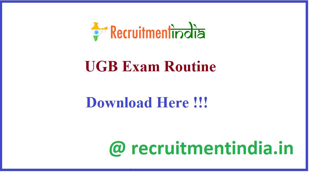 UGB Exam Routine