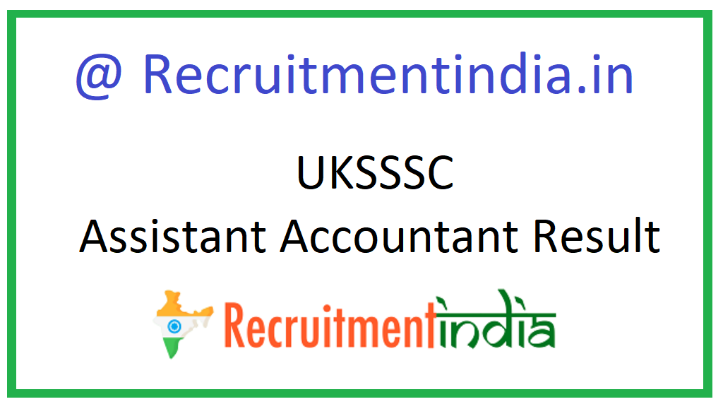 UKSSSC Assistant Accountant Result