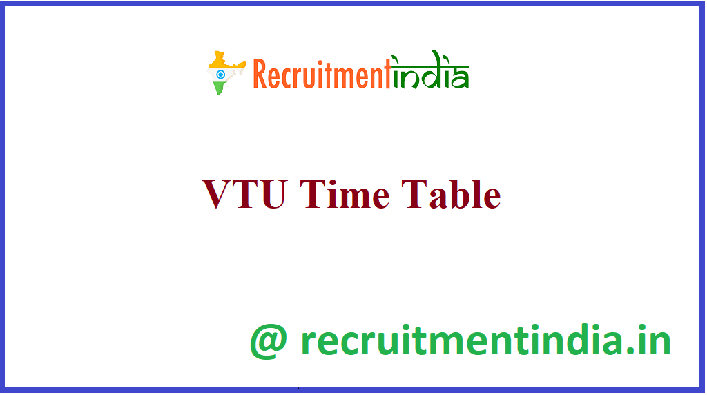 VTU Time Table