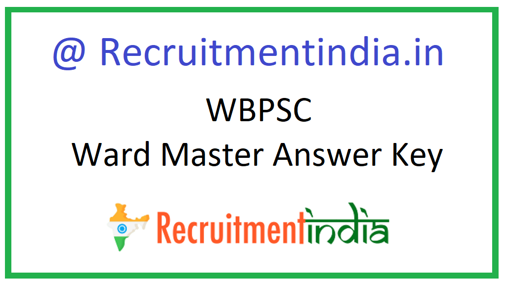 WBPSC Ward Master Answer Key