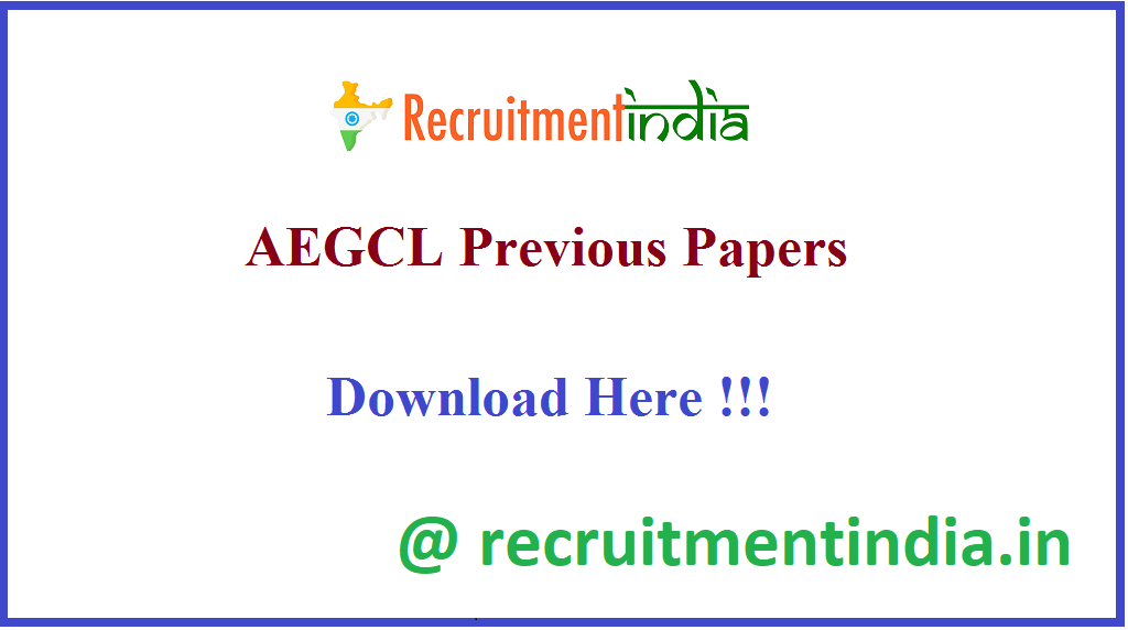 AEGCL Previous Papers