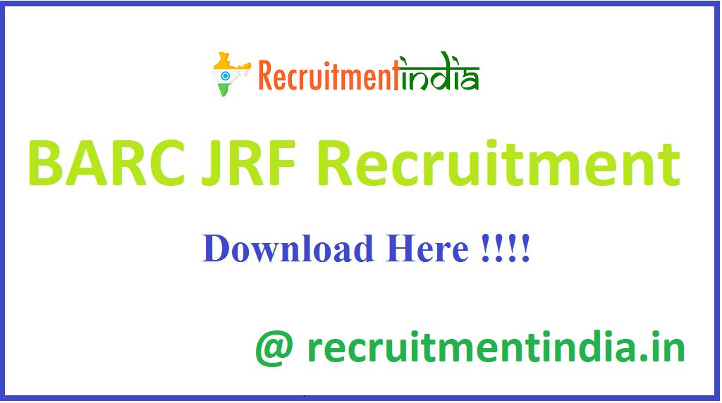 BARC JRF Recruitment