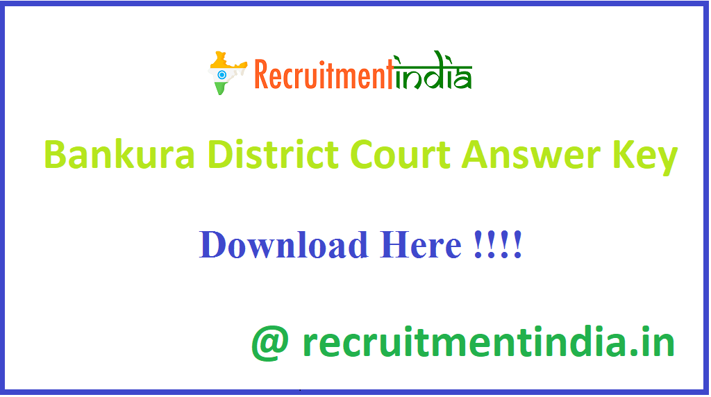Bankura District Court Answer Key