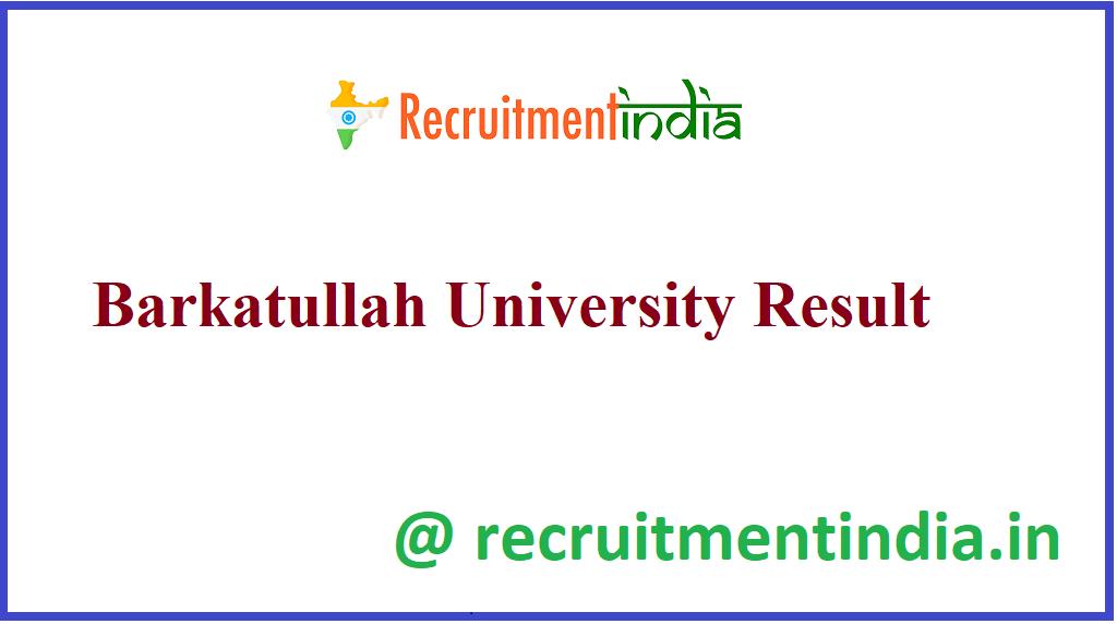 Barkatullah University Result